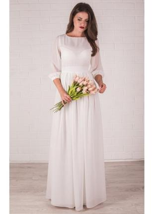 Нежное свадебное платье на роспись