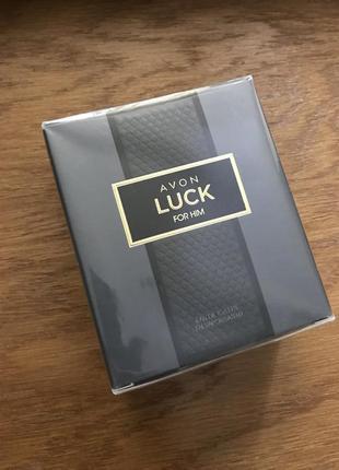 Мужская туалетная вода luck (удача) 75 мл от avon