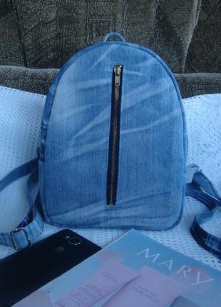 Джинсовый рюкзак прогулочный