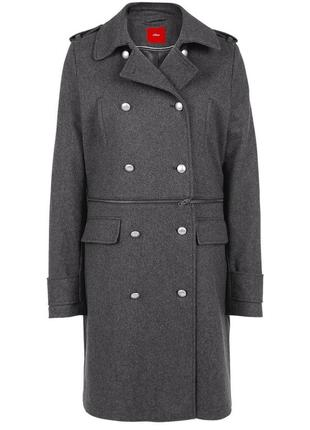 Теплое шерстяное пальто - трансформер