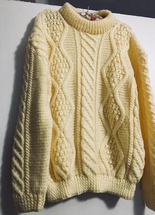 Объемный вязаный свитер оверсайз с косами 🔥 🔥 🔥