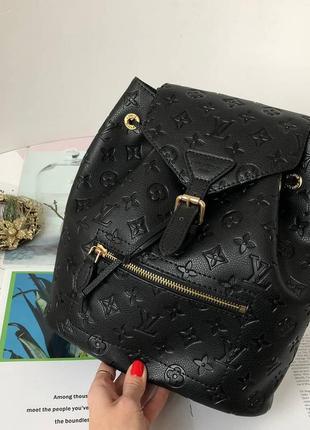 Рюкзак кожаный женский городской стильный черный