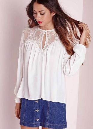 Безумно красивая блуза с кружевом oversized