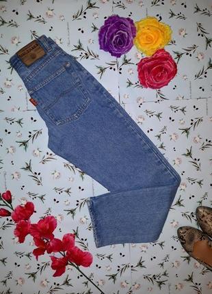 Фирменные зауженные плотные мом джинсы с высокой посадкой, размер xs-s
