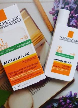 La roche-posay anthelios spf 30+ fluid ultra-light матирующий флюид.