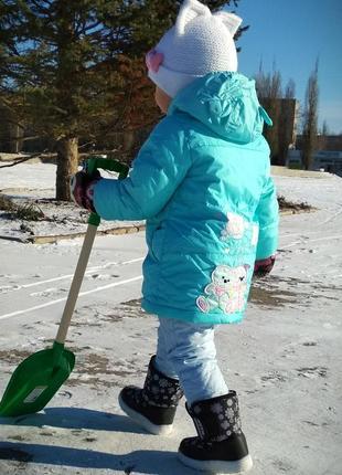 Зимний,теплющий пуховик, удлинённая куртка, пальто на 2-3 года