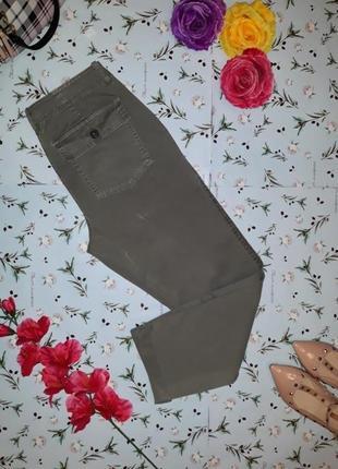 Модные укороченные узкие джинсы с карманами, цвет хаки, размер 46-48