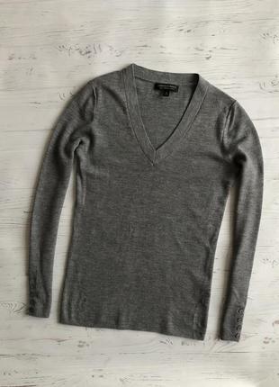 Шерстяная кофта джемпер свитер 100% мериносовая шерсть