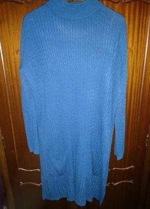 Теплое платье 56-58