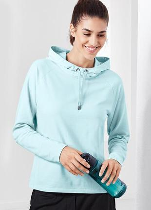 Небесно-голубая спортивная кофта с капюшоном (реглан, толстовка) от tchibo active s-m