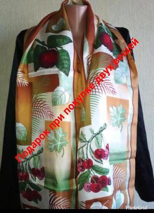 Feliciani винтажный шарф из натурального шелка
