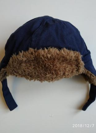 Зимняя шапка на мальчика 68-74 см