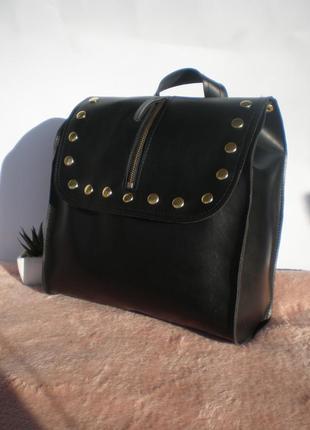 Классный рюкзак с заклепками handmade