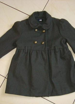Пальто h&m на рост 116 см.