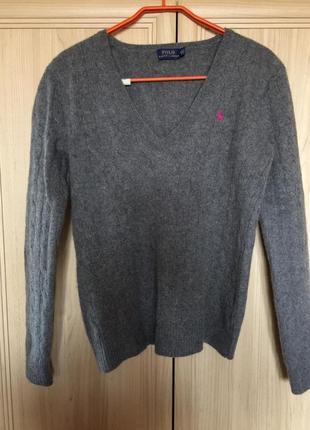 Новый теплый свитер ralph lauren шерсть мериноса и кашемир  8-10pp