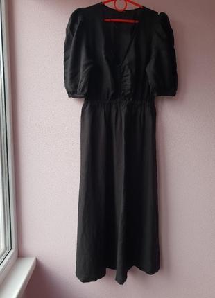 Льняное летнее платье, oysho, размер s