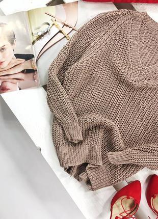 Красивый свитер крупной вязки оверсайз
