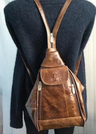 Рюкзак кожаный joop