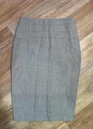 Giznon gesse юбка карандаш миди  в рубчик в полоску , полосатая xs/s