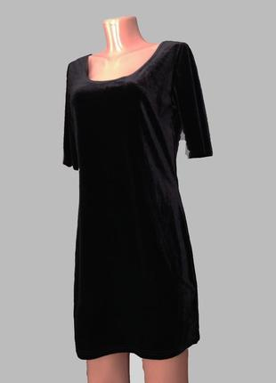 В наличии распродажа! - 50% ! бархатное черное платье new look new look