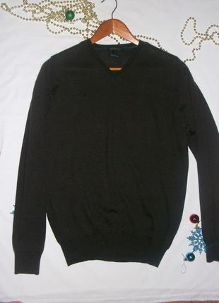 Мужской шерстяной пуловер george р. м
