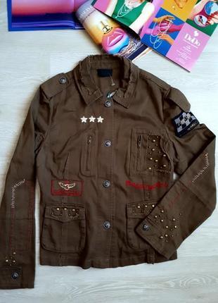 Куртка с вышивкой h&m / стильная ветровка с вышивкой / 2я вещь в подарок