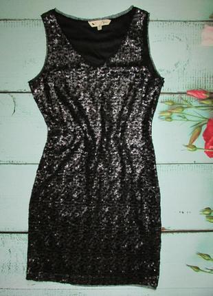 Шикарное платье в паетки