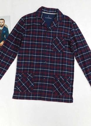 Байковая пижамная, домашняя рубашка canda размер 46 наш