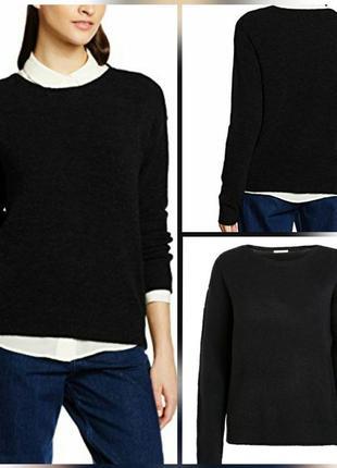 Укороченный шерстяной свитер джемпер pieces
