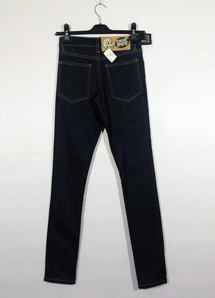 Cheap monday тёмные джинсы на высокой посадке/талии новые