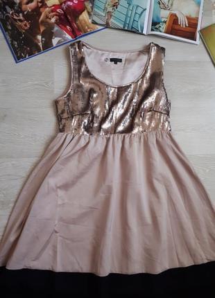 Стильное платье с пайетками / 2я вещь в подарок