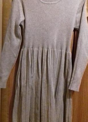 Плаття трикотажне плисе m-xl/ платье трикотажное плиссе m-xl