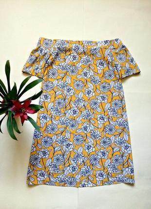 Красивое платье трапеция с открытыми плечами 12