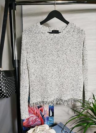 Фактурный свитер new look стилоный джемпер с бахромой