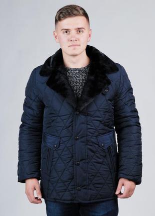 Мужская зимняя куртка с натуральным мехом