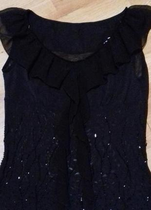 Топ нарядний чорний / блуза/ кофта