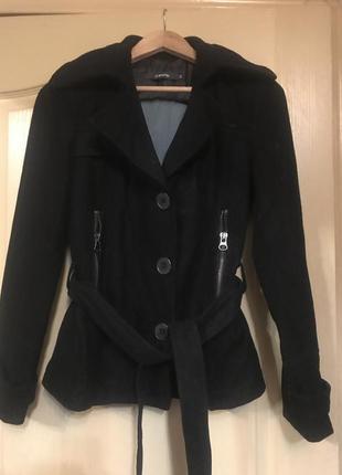Blend пальто чёрное куртка чёрная 50% шерсть