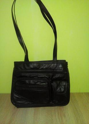 Кожаная деловая сумка damart