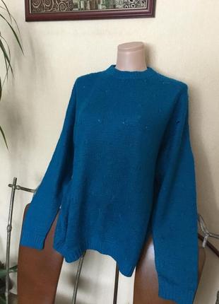 Махеровый свитер ручной работы р. м-ххл