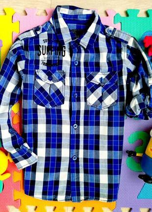 Стильная рубашка с принтом на спине