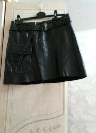 Кожанная супер юбка