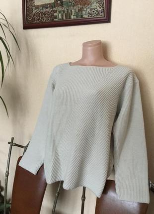 Фирменный свитер джемпер реглан marks & spenser шерсть+акрил р.м-ххл