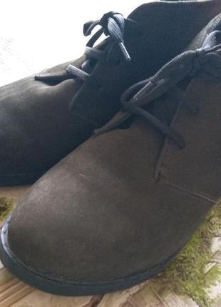 Нубуковые ботинки на меху