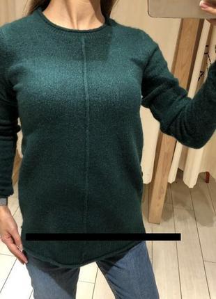 Тёплый изумрудный свитер house вязаный джемпер пуловер кофта есть размеры