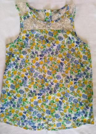 Цветочная блуза с замочком
