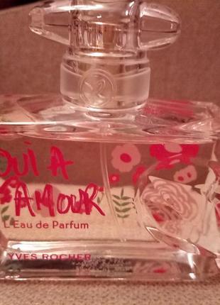 """Парфюмированная вода """"oui a l'amour""""  yves rocher"""