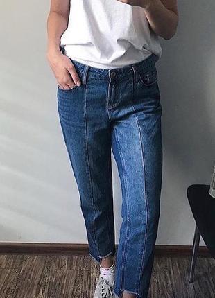 Асимметричные мом джинсы mom jeans