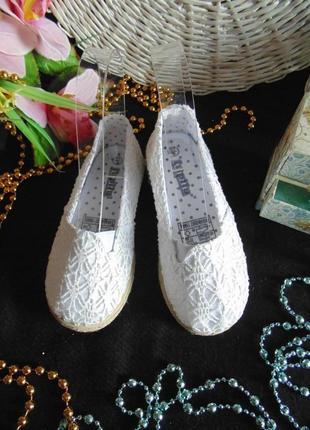 Нарядные эспадрильи lupilu 27(9)р,ст 17,5см.мега выбор обуви и одежды!