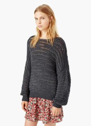 Пуловер ажурной вязки оверсайз mango casual размер l