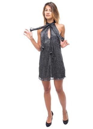 Блестящее короткое платье zara woman